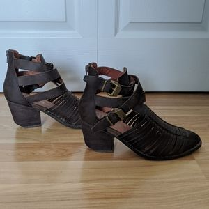 Jeffrey Campbell Caged Ankle Boots Size 9 Strappy